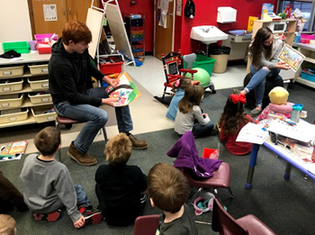 Student Athlete Read at AES