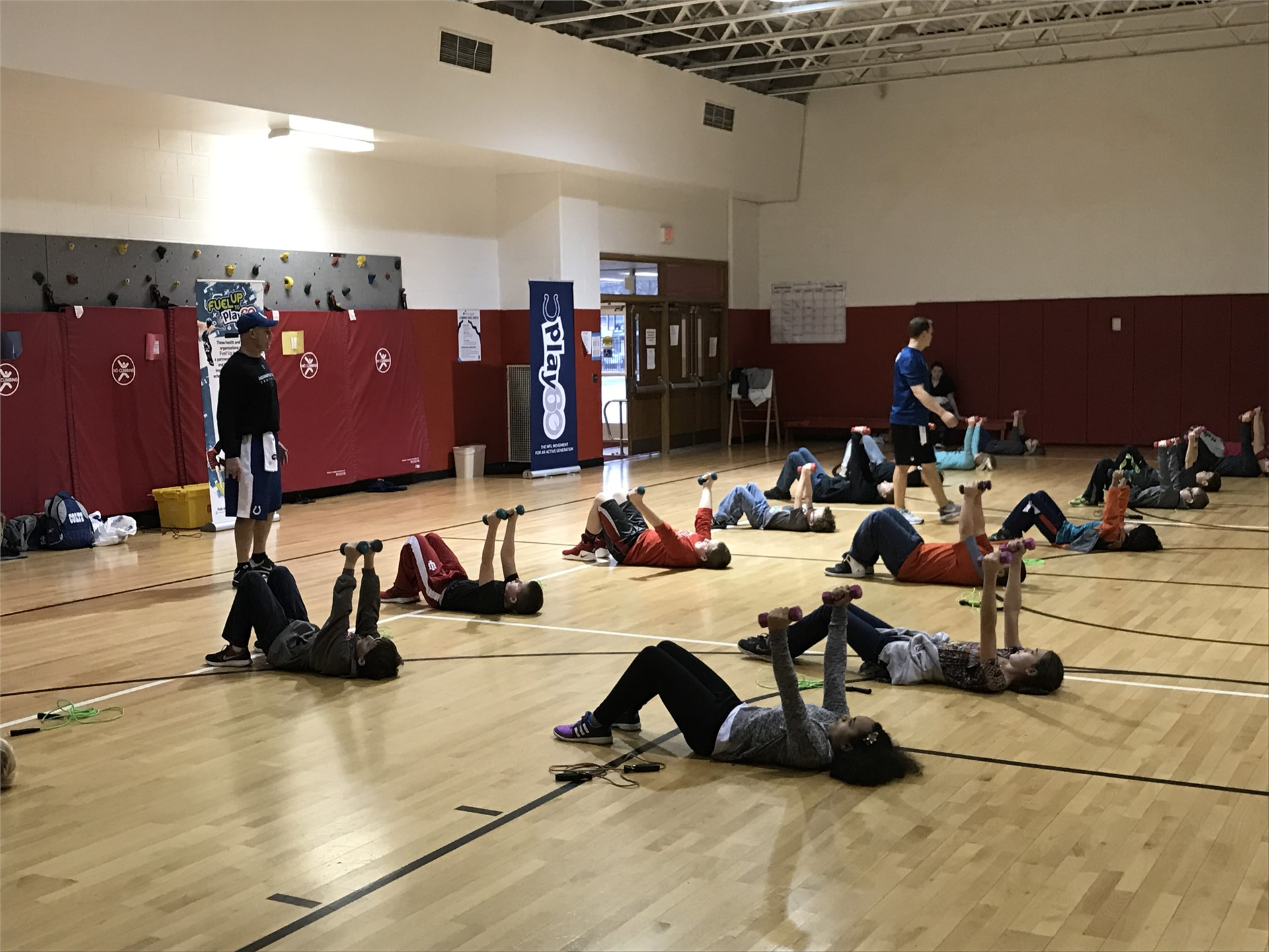 Colts Fitness Camp at AES