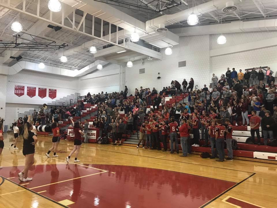 Pep Session for Sectional Championship Football Game