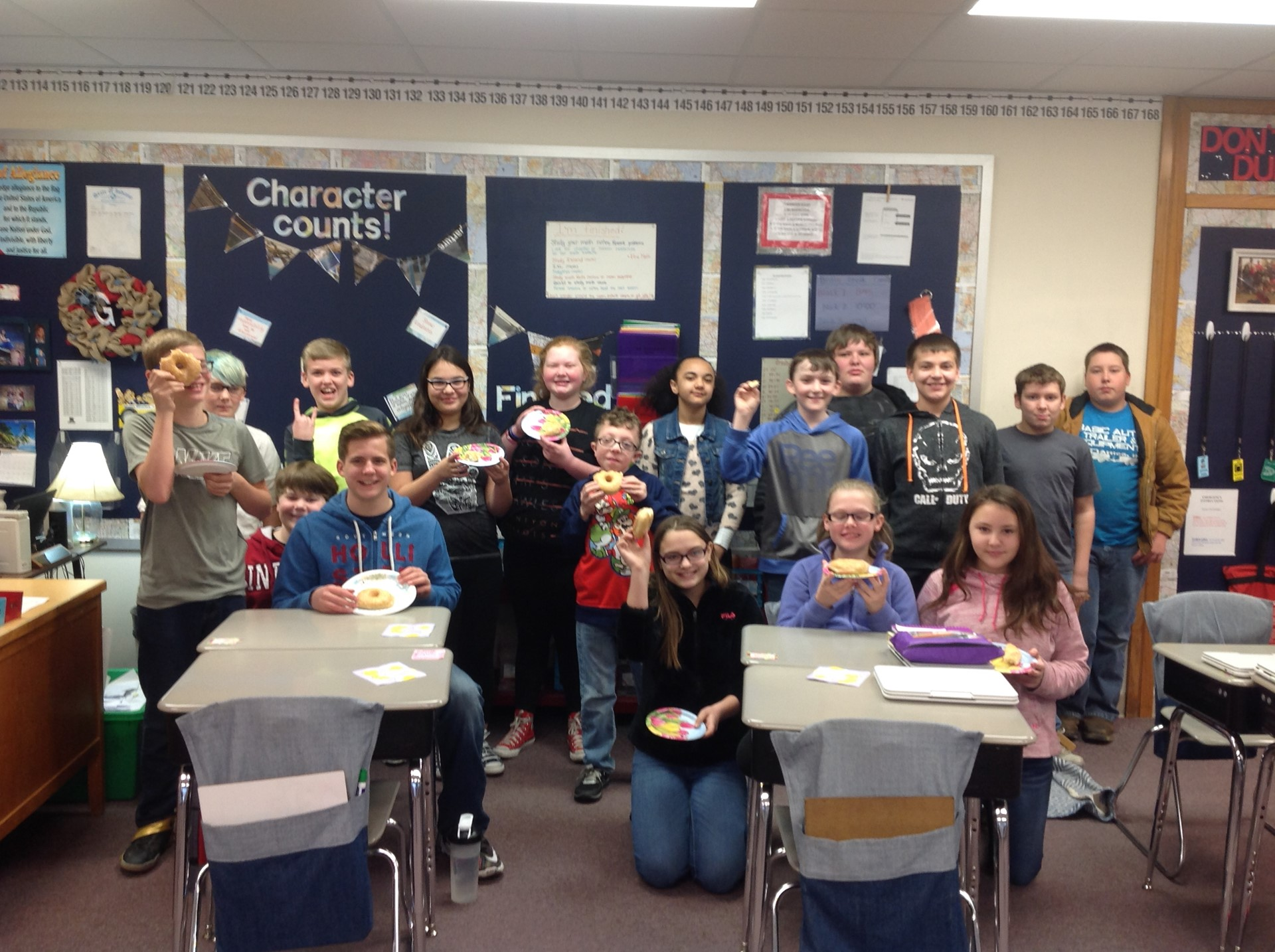 Doughnuts with Mrs. Goings