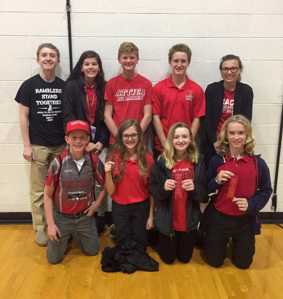Jr. High Science Super Bowl Team - 4th Place in State