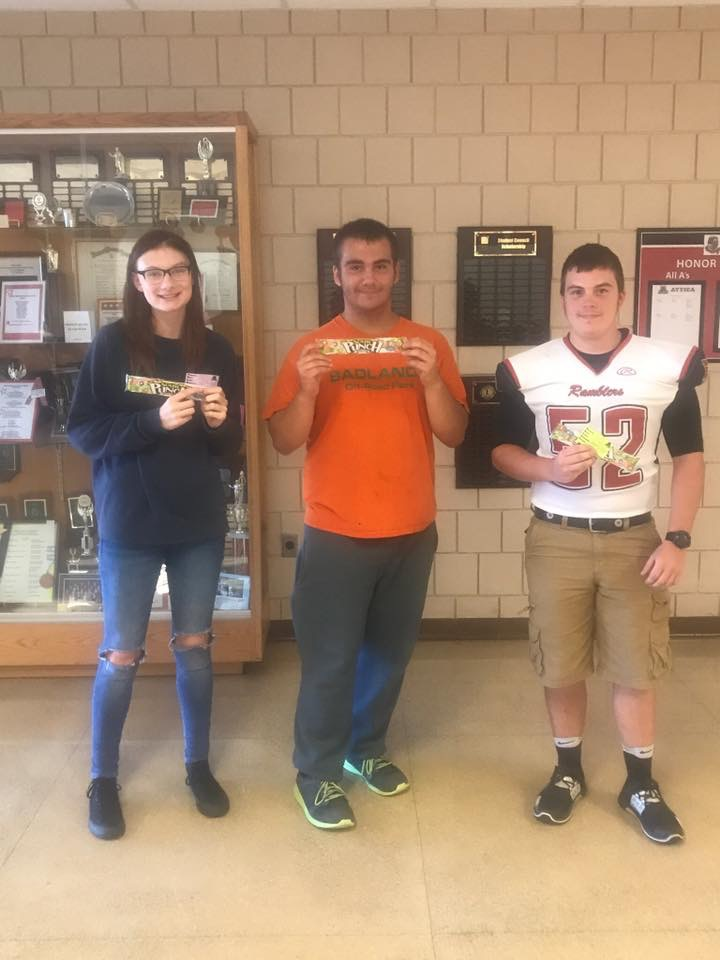B Lunch Pride Ticket Winners