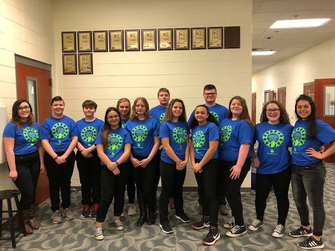 Jr High Students Competed in Circle the State