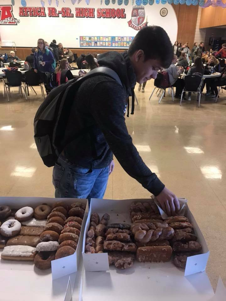 Honor Roll Donuts provided by County Market