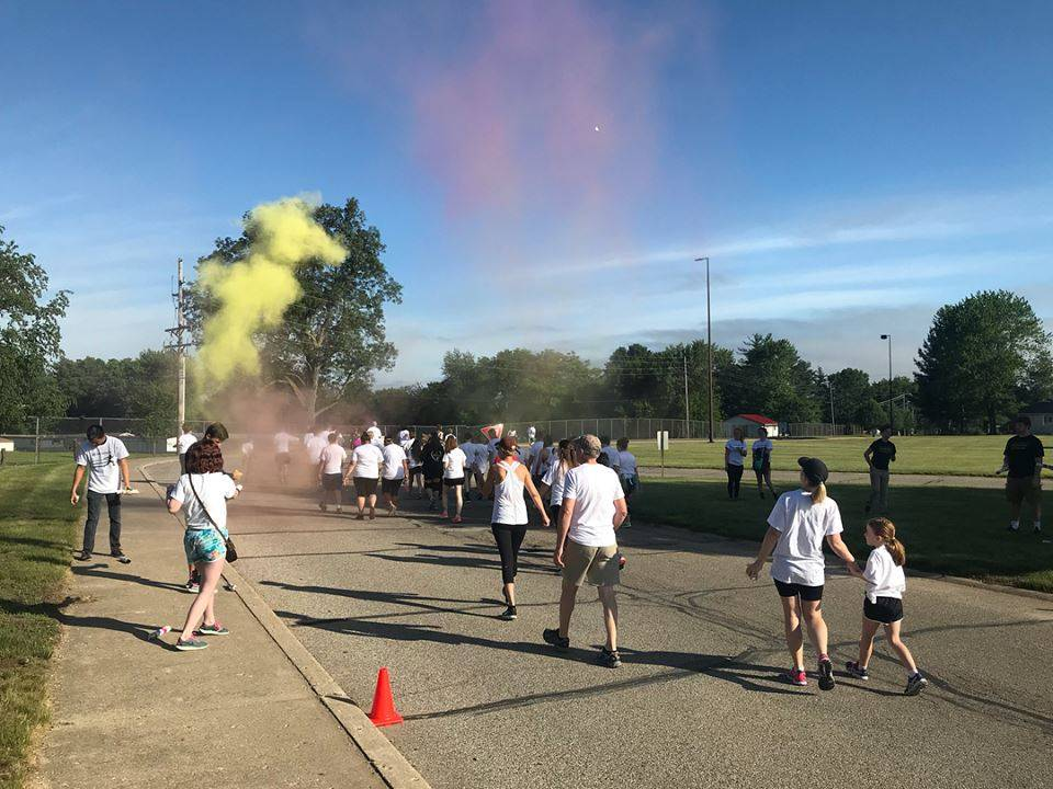 Student Council Color Run for Riley's