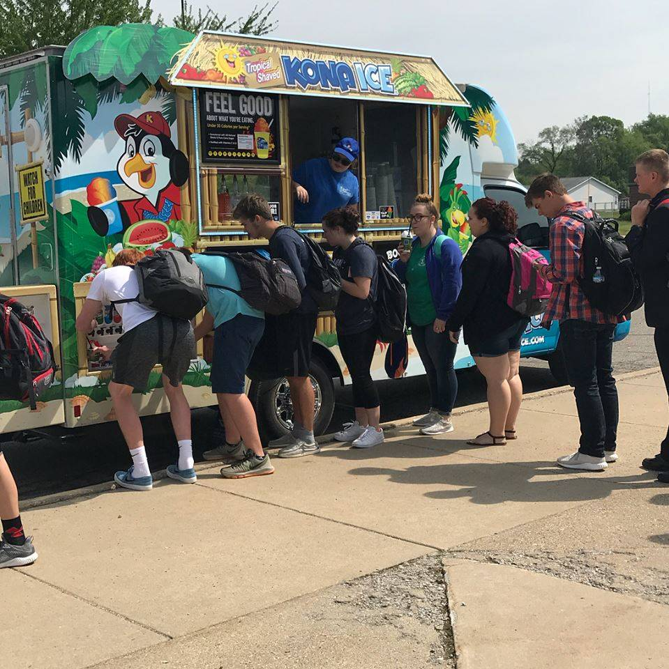 Kona Ice at Lunch thanks to Attica PTC